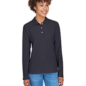 Ladies' Pima Piqué Long-Sleeve Polo Thumbnail