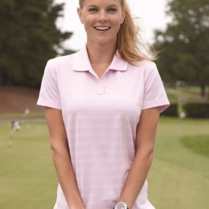 Women's ClimaLite® Textured Short Sleeve Polo Thumbnail