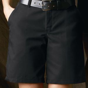 Women's Plain Front Shorts, 8 Inch Inseam Thumbnail