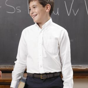 Boys' Long Sleeve Oxford Shirt Thumbnail