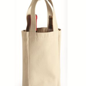 10 Ounce Cotton Canvas Double Bottle Wine Tote Thumbnail