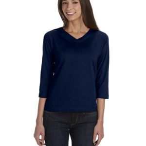 Ladies' 3/4-Sleeve Premium Jersey T-Shirt Thumbnail