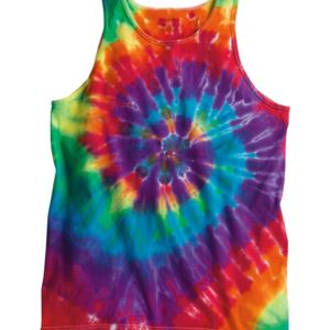 Multi-Color Spiral Unisex Tank Top Thumbnail