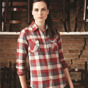 Vintage Women's Brushed Flannel Long Sleeve Shirt Thumbnail