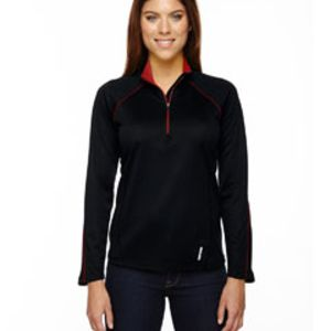Ladies' Radar Quarter-Zip Performance Long-Sleeve Top Thumbnail