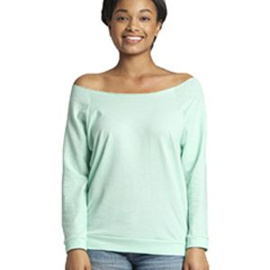 Ladies' French Terry 3/4-Sleeve Raglan Thumbnail
