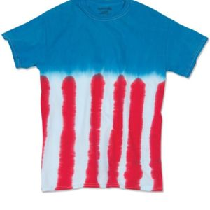 Youth Flag Tie Dye T-Shirt Thumbnail