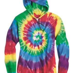 Tie-Dyed Hooded Pullover T-Shirt Thumbnail
