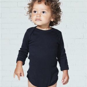 Infant Long Sleeve Baby Rib Bodysuit Thumbnail