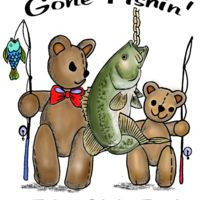 Z423 bass fishing bear color art Thumbnail