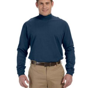 Adult Sueded Cotton Jersey Mock Turtleneck Thumbnail