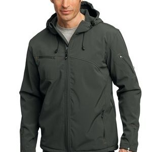 Textured Hooded Soft Shell Jacket Thumbnail