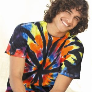 Short Sleeve Rainbow Cut-Spiral T-Shirt Thumbnail