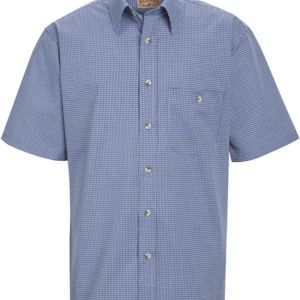Mini-Plaid Uniform Short Sleeve Shirt Thumbnail