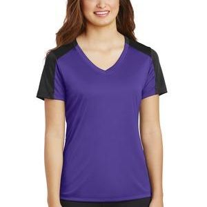 Ladies PosiCharge ® Competitor ™ Sleeve Blocked V Neck Tee Thumbnail