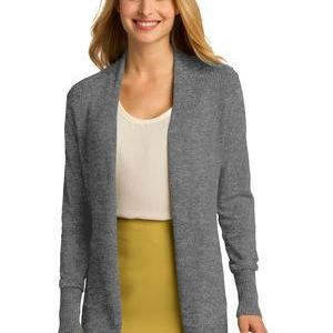 Ladies Open Front Cardigan Sweater Thumbnail