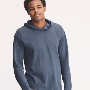 Garment Dyed Hooded Long Sleeve Tee Thumbnail