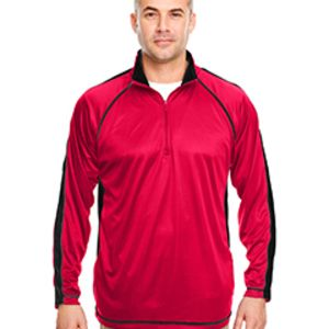 Adult Cool & Dry Sport Quarter-Zip Pullover with Side and Sleeve Panels Thumbnail