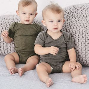 Baby Triblend Short Sleeve Onesie Thumbnail