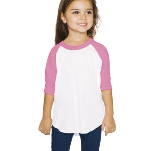 Toddler 50/50 Poly/Cotton Three-Quarter Sleeve T-Shirt Thumbnail