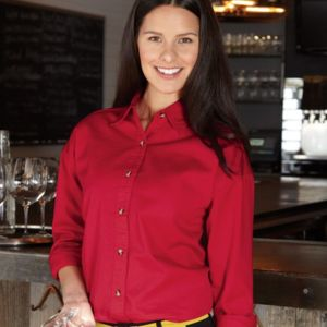 Women's Long Sleeve Cotton Twill Shirt Thumbnail