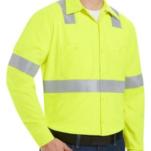 Enhanced Visibility Long Sleeve Work Shirt Long Sizes Thumbnail