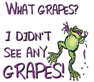 410 what grapes  frogs