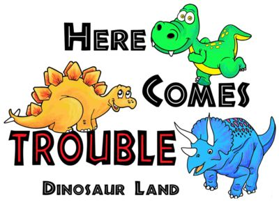 D63 Here comes trouble dino
