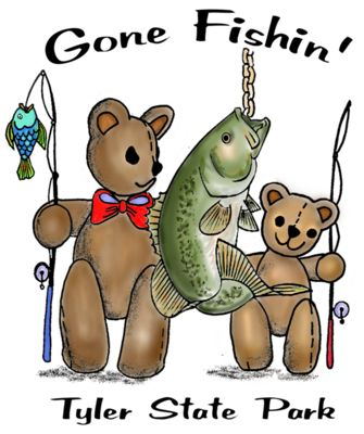Z423 bass fishing bear color art
