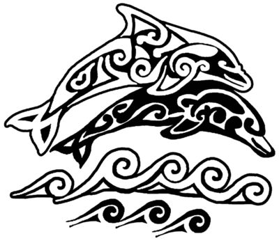 S62 Tribal dolphin Art